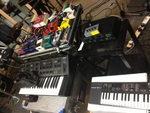 This is my setup from a recent BBC 6Music session with Woodpecker Wooliams for Tom Robinson